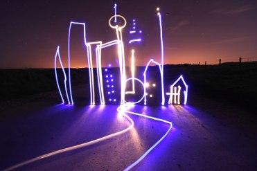 city light graffiti