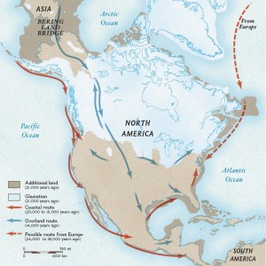 Possible migration routes