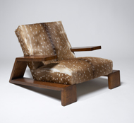 Frank's oak and doe-hide armchair