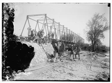 Allenby Bridge building. Public domain, Library of Congress