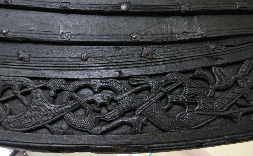 Keel of the Oseberg ship, vikingskipmuseet, Oslo