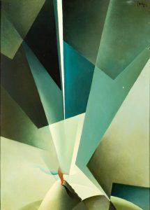 Tullio Crali Le forze dell'infinito olio su tavola 1931