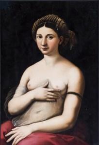 Raffaello Sanzio, La Fornarina (1518-1520) - Palazzo Barberini - Roma