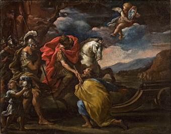 Sebastiano Ricci Impresa di Alessandro Farnese olio su tela Pienza