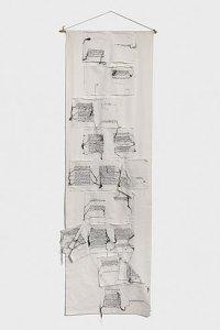 Maria Lai Senza titolo 1982 Tela di lino e cotone, filo 240 x 72 cm Gorgonzola, collezione privata Courtesy ©Archivio Maria Lai by Siae 2021