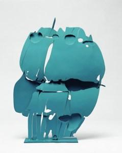 Pietro Consagra Ferre trasparente turchese 1966 ferro dipinto