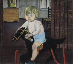 Alice Neel Hartley on Rocking Horse 1943Oil on canvas 76.4x86.4 cm Private Collection ©The Estate of Alice Neel