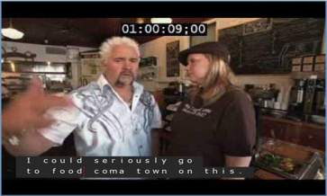 Flavortown, Guy Fieri, Captions, Captioning, Food Coma Town