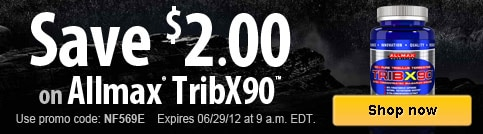 Save $2 on Allmax TribX90