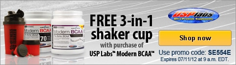 Free 3-in-1 shaker cup with qualifying purchase
