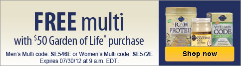 Free multivitamin with qualifying purchase