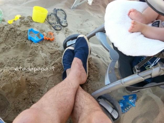 espadrillas in spiaggia
