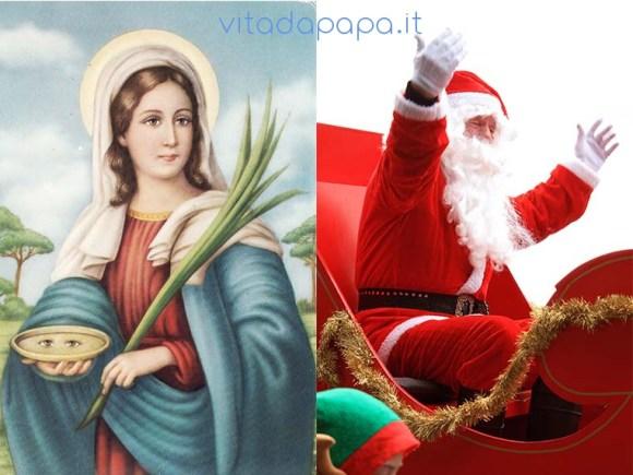 Santa Lucia o Babbo Natale
