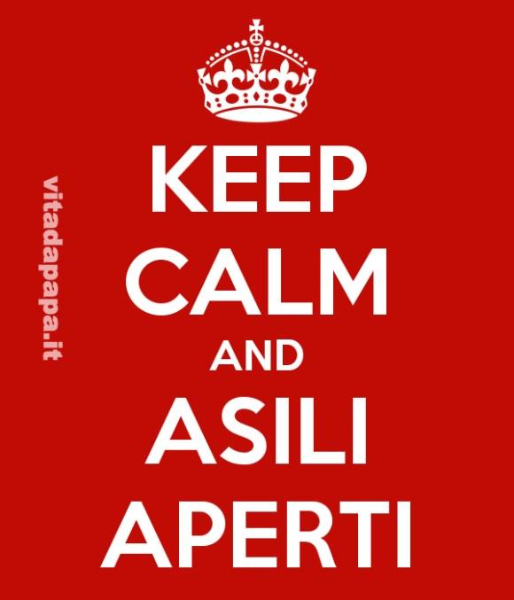 keep calm asili aperti
