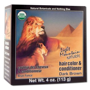 Natural Hair Color & Conditioner, Dark Brown, 4 oz, Light Mountain Henna