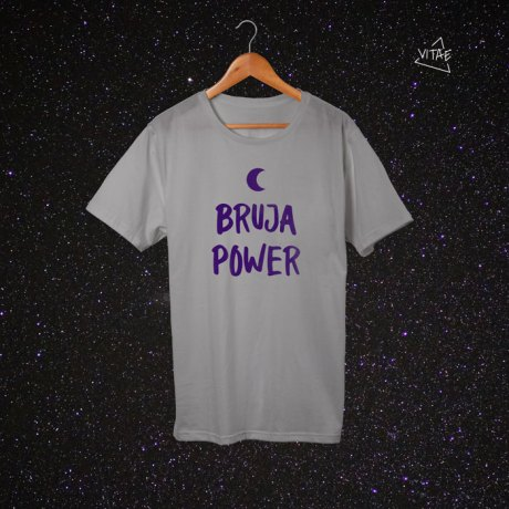 Camiseta Bruja Power gris