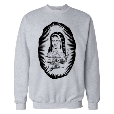 barrio loco grey crewneck