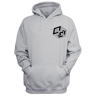 square-gray hoodie