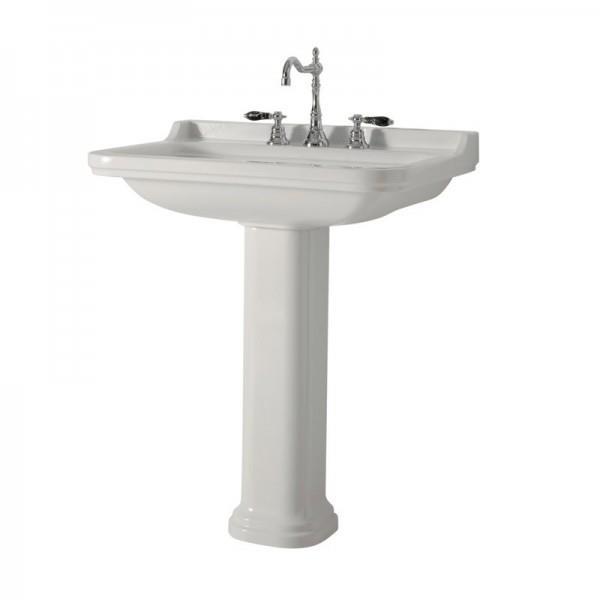 lavabo ceramique waldorf a suspendre ou sur colonne 60 55 cm cristina ondyna wd6045
