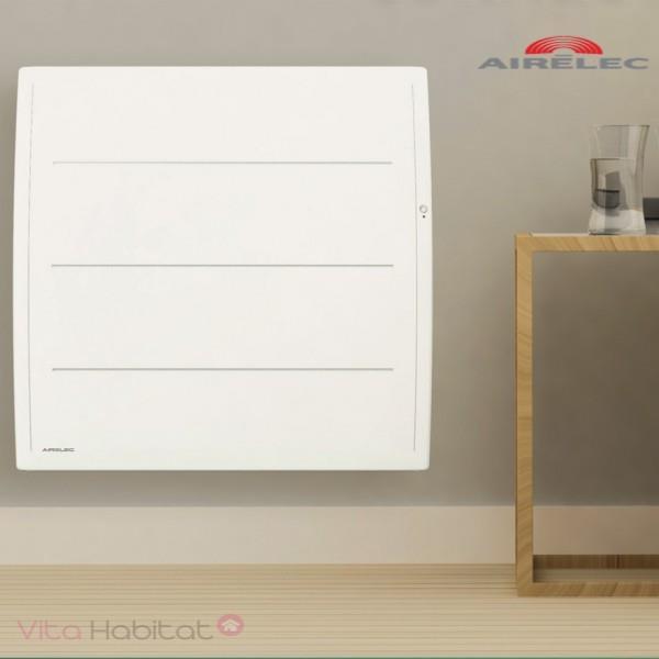 Radiateur Fonte Airelec Adeos Smart Ecocontrol 1000w Horizontal Blanc A693603 Vita Habitat