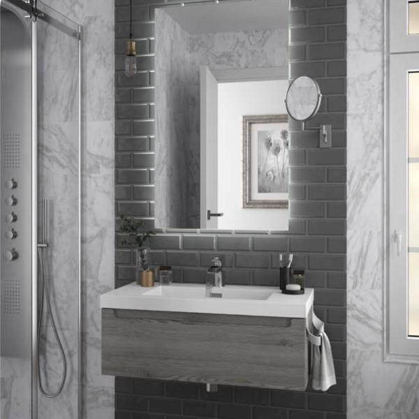 meuble salle de bain suspendu monterrey 800 pin bahia 1 tiroir salgar 23931