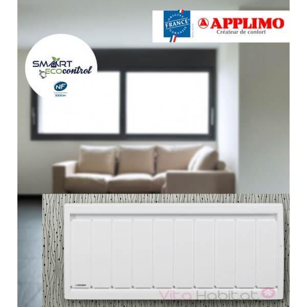 radiateur fonte applimo soleidou smart ecocontrol bas radiateur electrique a inertie hauteur 40cm