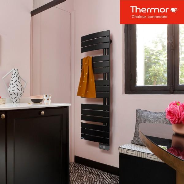 seche serviette electrique thermor allure 2 etroit 750w 490713