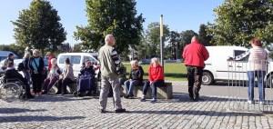 Treffen-zum-Aktivtag-an-der-Turnhalle in Weida