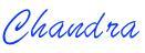 Chandra writing