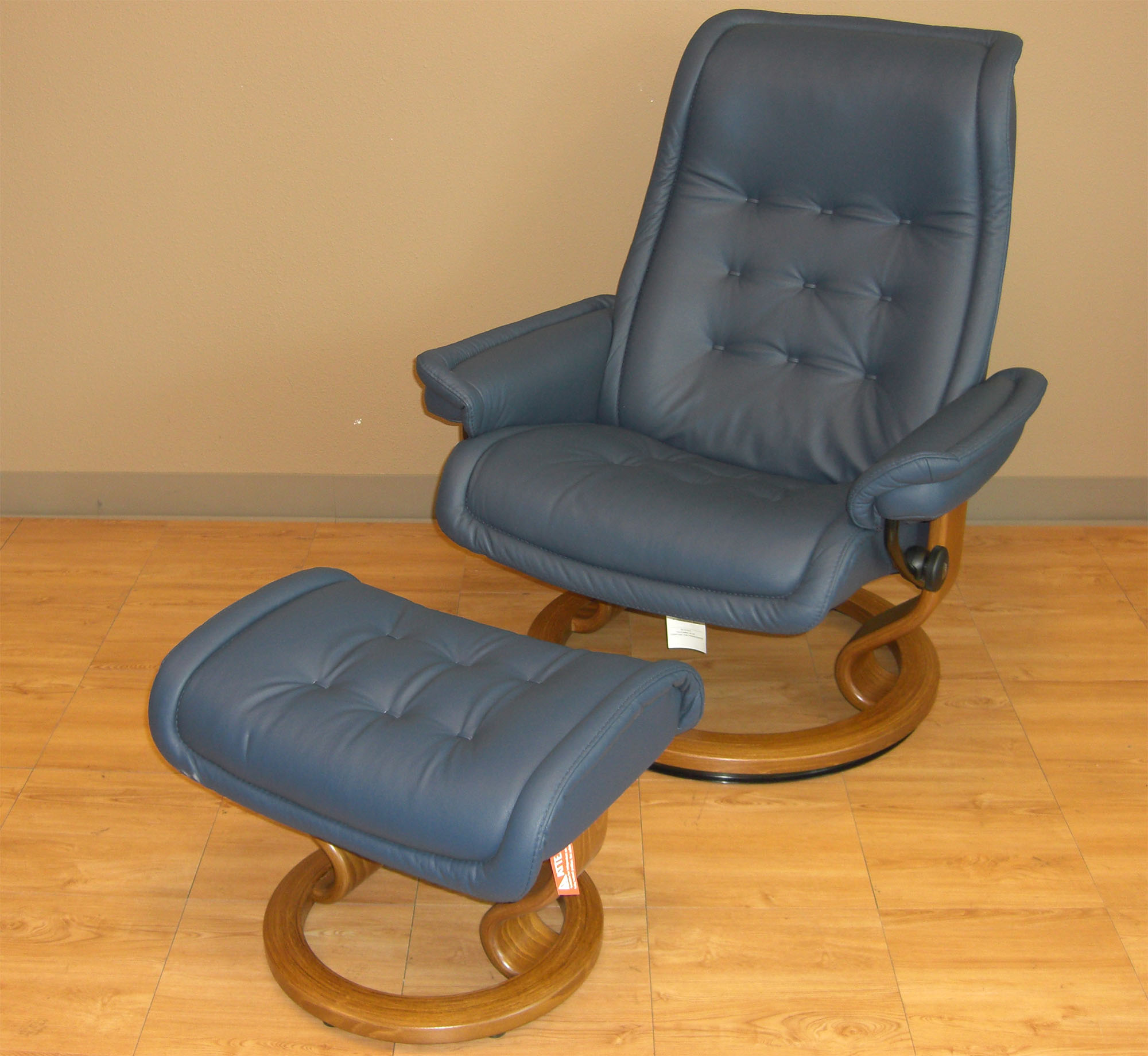 Stressless Paloma Oxford Blue 09418 Leather By Ekornes Stressless Paloma Oxford Blue 09418