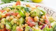atrium - tomato chickpea avocado salad