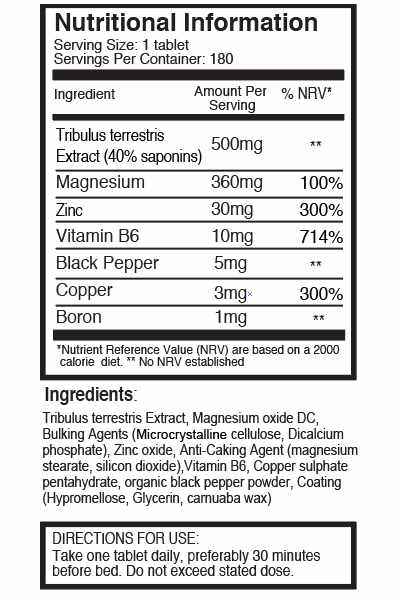 ZMA ingredients