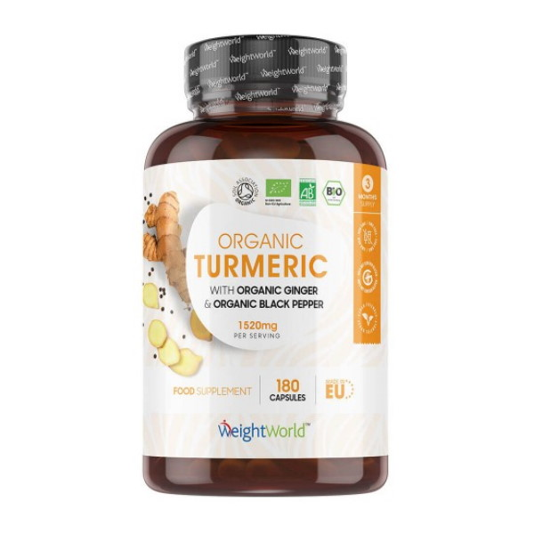 Weight World Organic Turmeric with Ginger and Black Pepper x 180