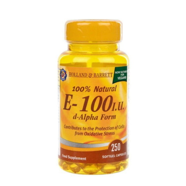Holland & Barrett Natural Vitamin E 100iu x 100