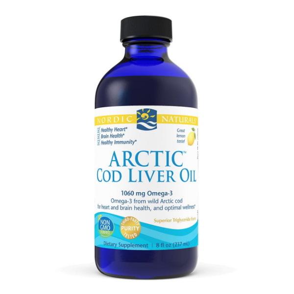 Nordic Naturals Arctic Cod Liver Oil Lemon x 237ml