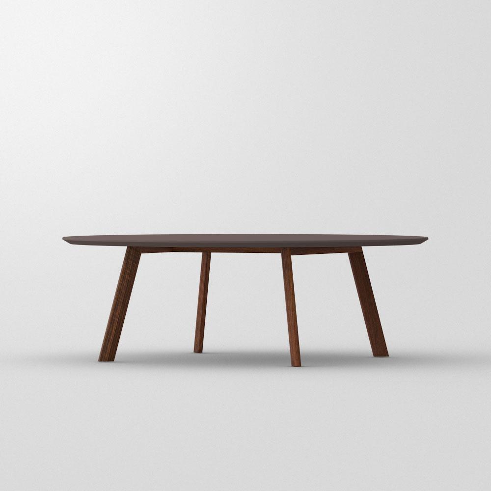 coffee table rhombi round lino