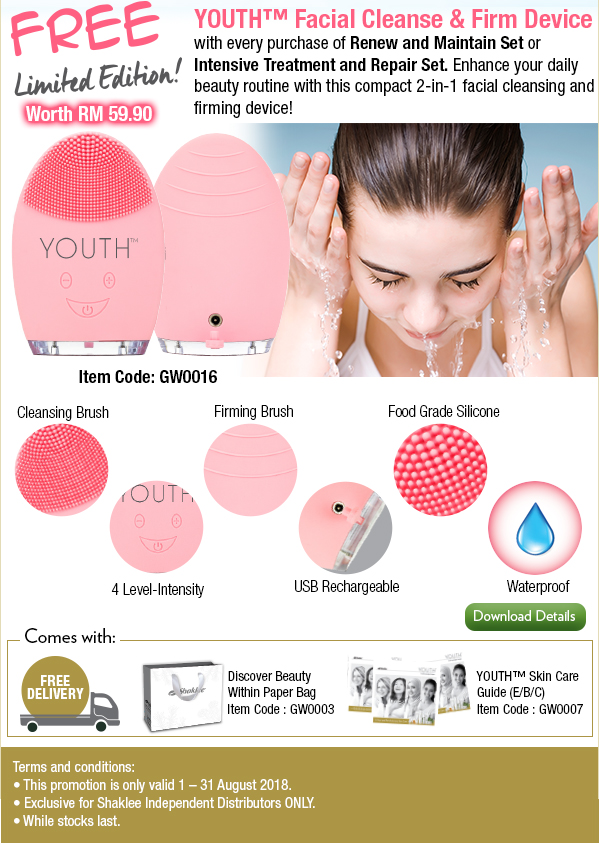 youth facial cleanse and firm