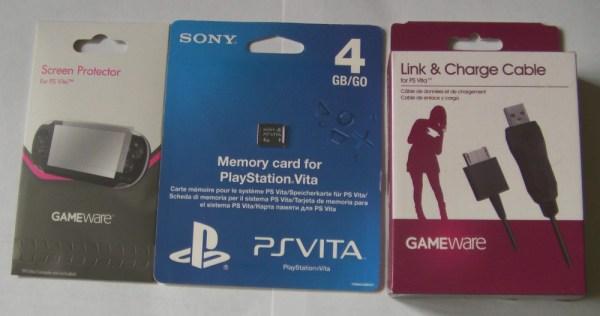 Vita Player 4Gb Memory Card Accessory Bundle Prizes
