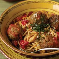 Turkey and Beef Meatballs with Whole Wheat Spaghetti