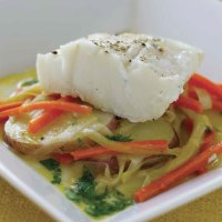 Braised Cod with Leeks