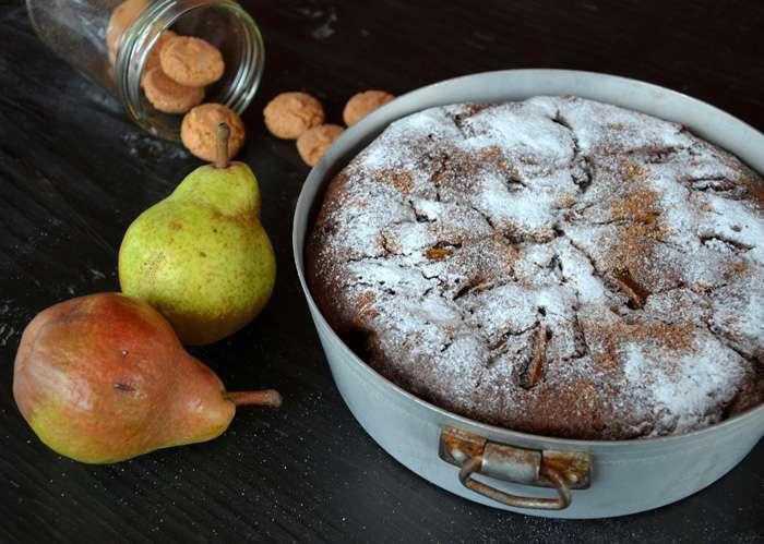 torta pere amaretti