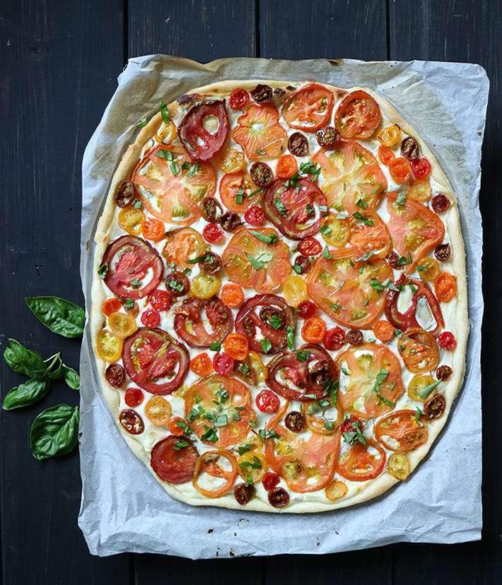 pizza d'estate cotta