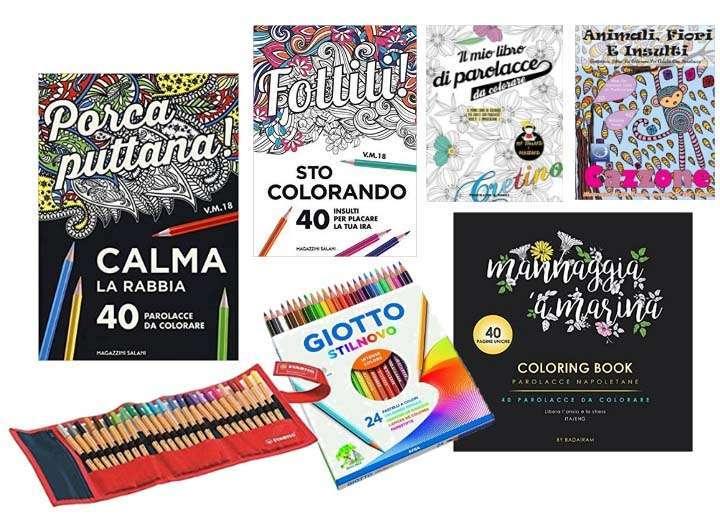 libri da colorare parolacce