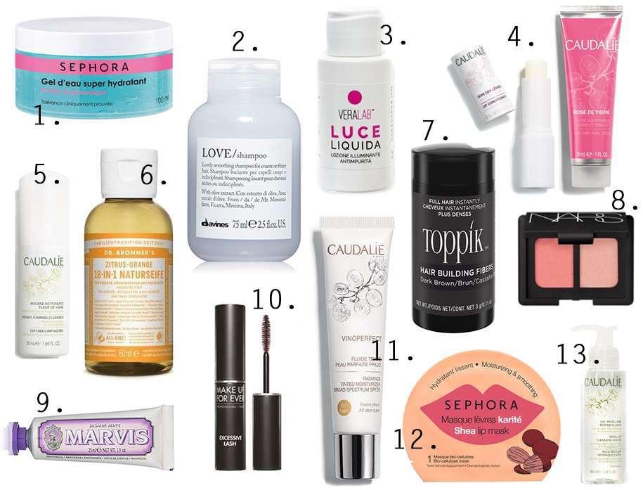 prodotti beauty travel size cosa comprare