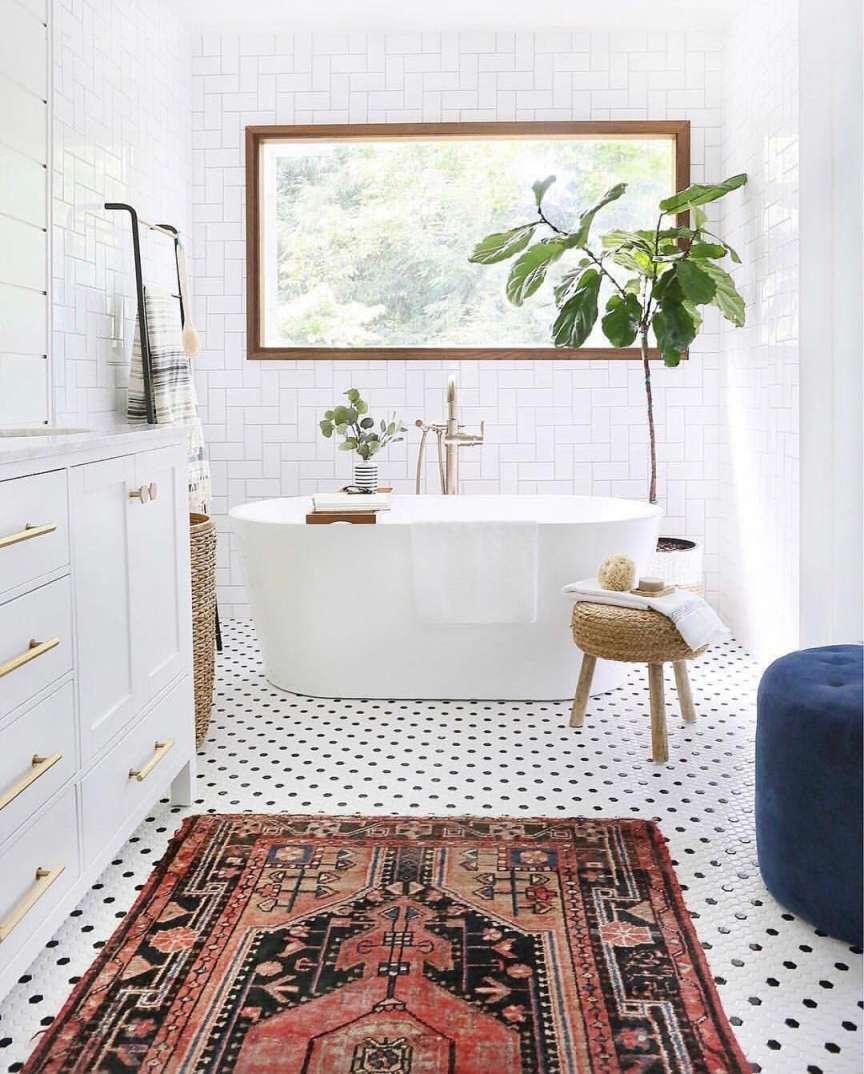 tappeto in bagno