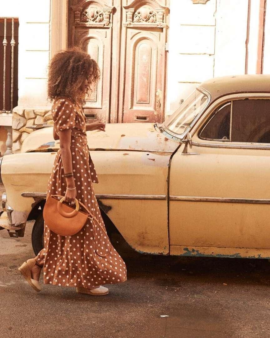 la fantasia a pois maxi dress