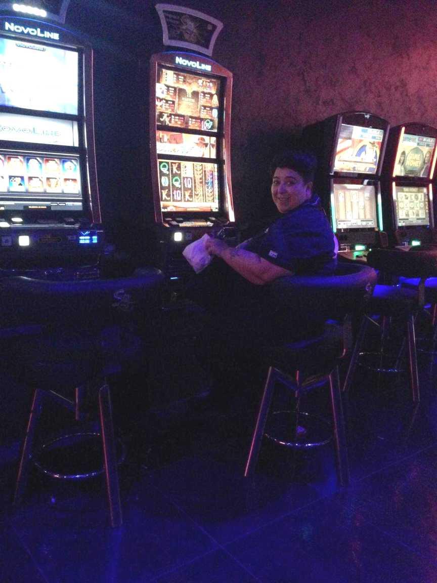 Pamela Perricciolo nella sala giochi