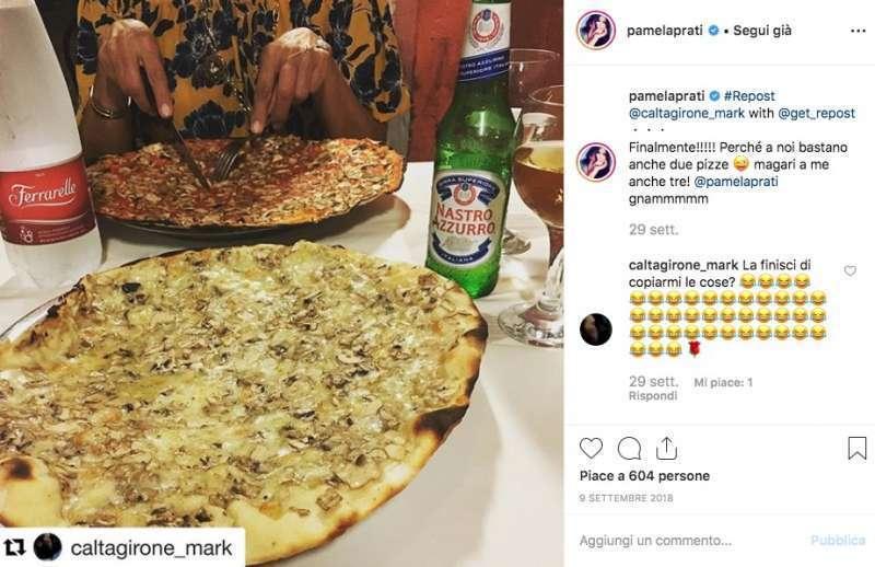 Mark Caltagirone e Pamela Prati Instagram