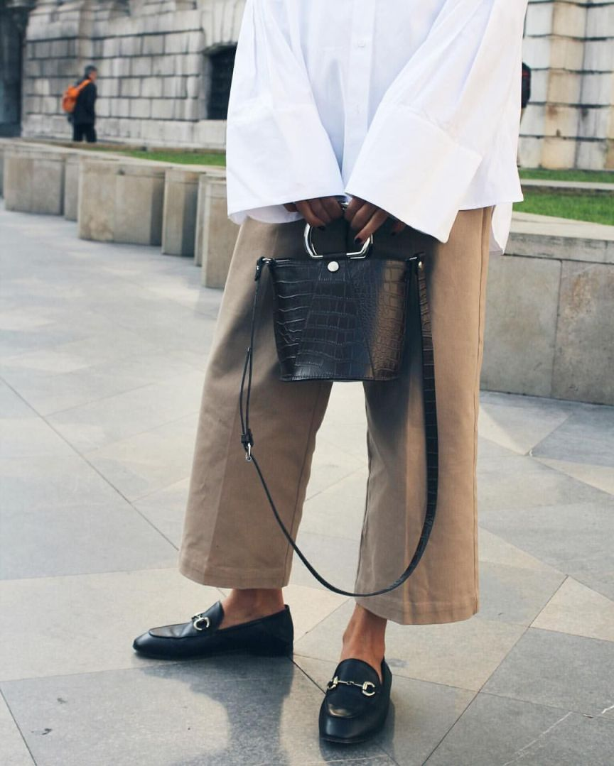 pantaloni culotte cammello