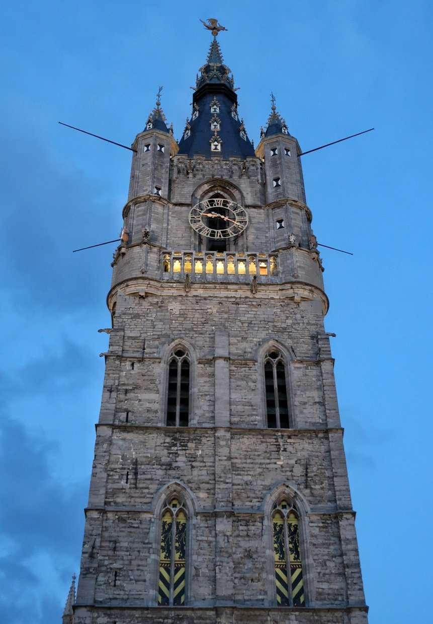 La torre campanaria di Gent